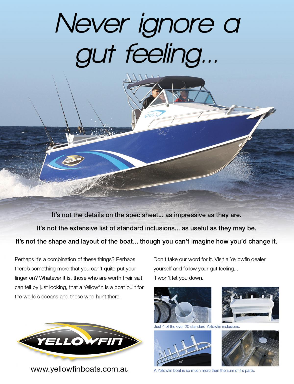 YellowFin Never ignore a gut feeling